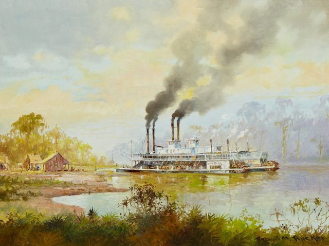 "Robert Rucker (1932-2000), ""The Paddlewheeler Imperial"