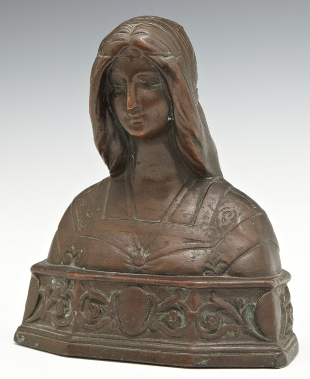 Patinated Bronze Bust of Beatrice, early 20th c., by