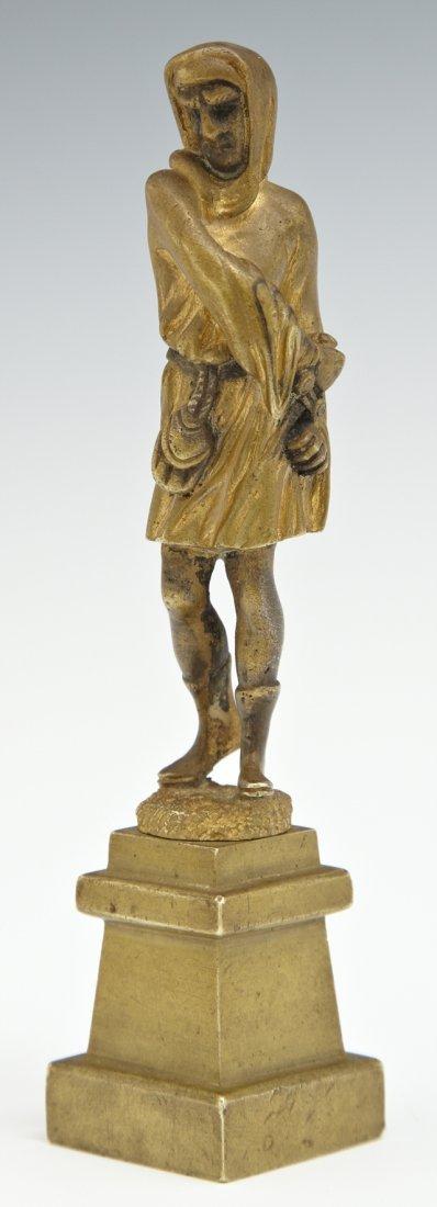 Gilt Bronze Cabinet Figure, 19th c., of a Saracen