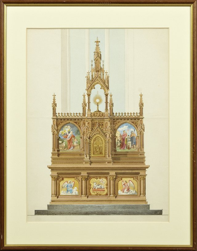 """Continental School, """"The Altar,"""" late 19th c.,"""