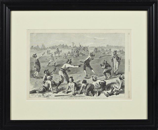 """""""Baseball at Blackville- The 'White Stockings' Against"""