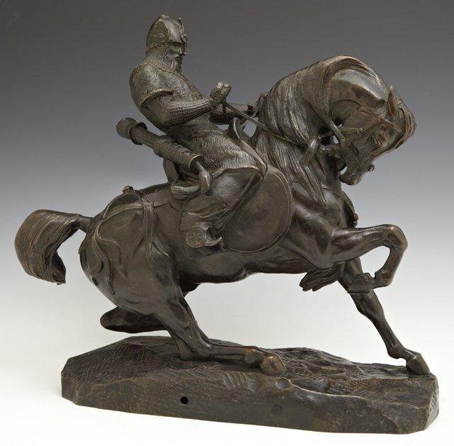 "Antoine-Louis Barye (1796-1875), ""A Mounted Tatar"