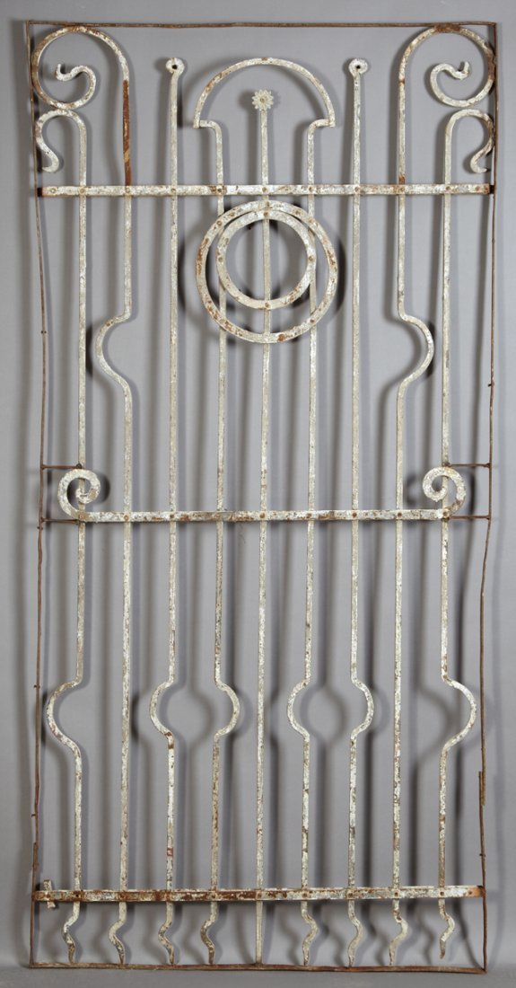 Art Nouveau Wrought Iron Gate, late 19th c., with