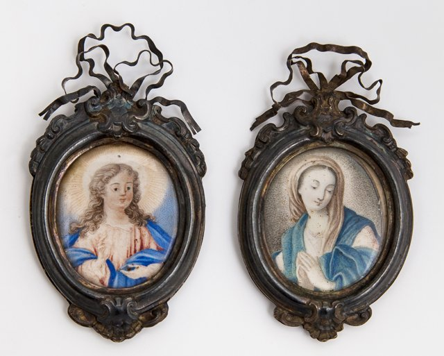 "French School, ""The Virgin Mary,"" and ""A Saint,"" 19th"