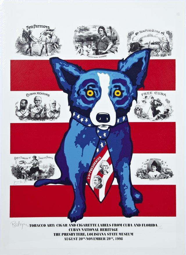 "George Rodrigue (1944-2013) ""Tobacco Art: Cigar and"