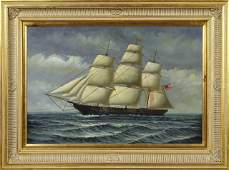 Chinese School American Clipper on the High Seas