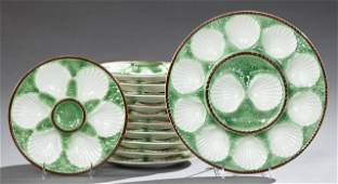 Twelve Piece Ceramic Oyster Set early 20th c