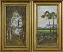 """French School, """"Figure in the Field,"""" and """"Sailboat"""