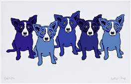 "George Rodrigue (1944-2013), ""Blue Line-Up,"" 1997,"