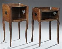 Two French Provincial Louis XV Style Nightstands, early