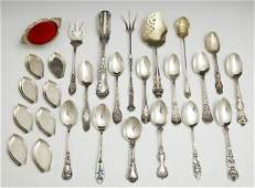 Group of TwentySeven Pieces of Sterling consisting of