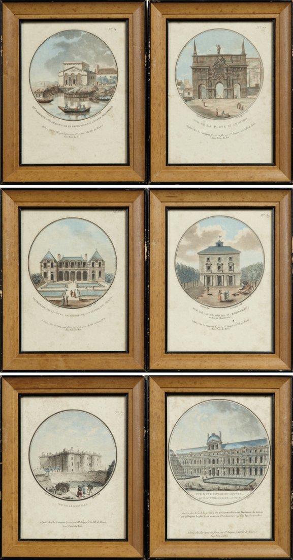 """""""Vue de la Maison de M. Rousseau,"""" """"Barrierie sur le"""