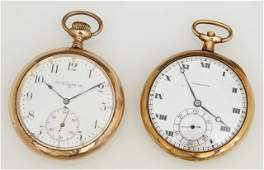 Two 14K Yellow Gold Pocket Watches, one an Elgin,