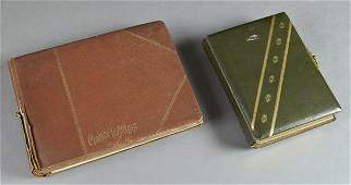 Two French Leather Albums, early 20th c., one with