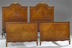 Seven Piece French Louis XV Style Parcel Gilt Mahogany
