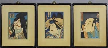 "Toyokuni, ""Danjuro Ichikawa,"" ""Kusaburi Iwai,"" and"