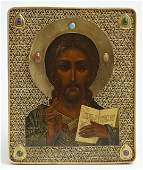 Russian Icon c 19081917 Moscow of Christ