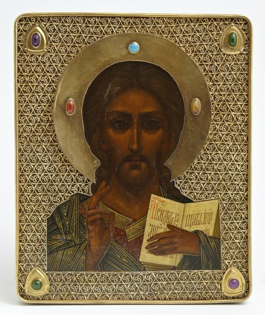 Russian Icon, c. 1908-1917, Moscow, of Christ