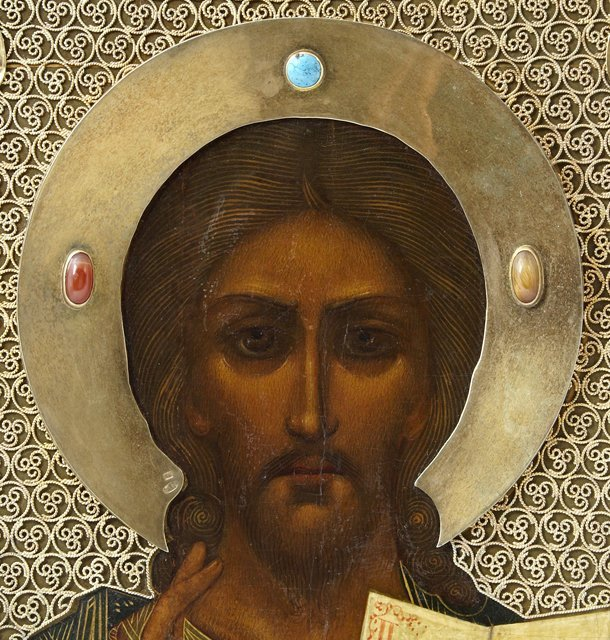 Russian Icon, c. 1908-1917, Moscow, of Christ - 2