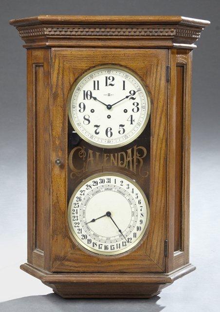 howard miller oak westminster chiming calendar wall - Howard Miller Wall Clock