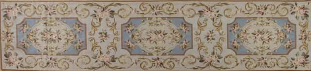 Aubusson Style Needlepoint Runner 2 5 x 9 11