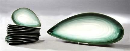Thirteen Piece MidCentury Modern Ceramic Fish Set