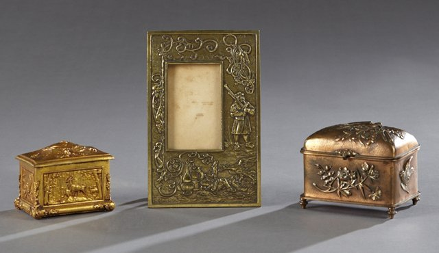 Group of Three Metal Objects, 20th c., consisting of a