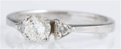 Ladys Platinum Diamond Solitaire with a 12 carat
