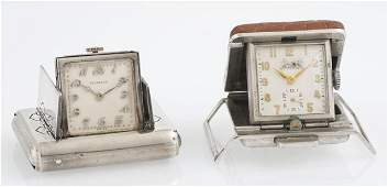 Two Unusual Folding Watches, early 20th c., a rare belt