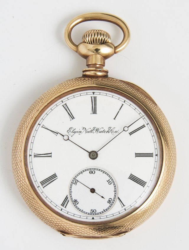 Elgin 14K Yellow Gold Pocket Watch, 1893, ser #