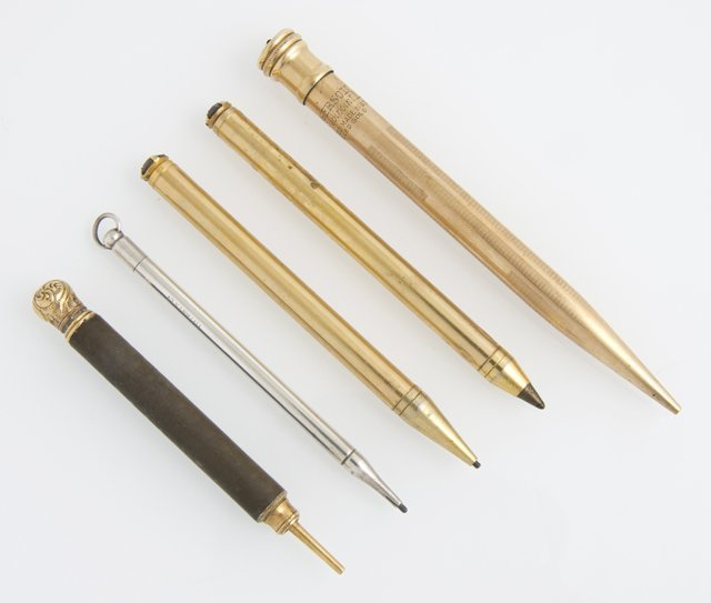 Group of Five Writing Implements, early 20th c.,