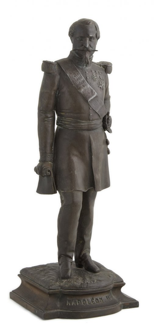 Patinated Spelter Figure of Napoleon III, late 19th c.,