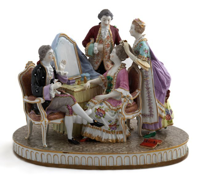 Meissen Style Porcelain Figural Group, early 20th c.,