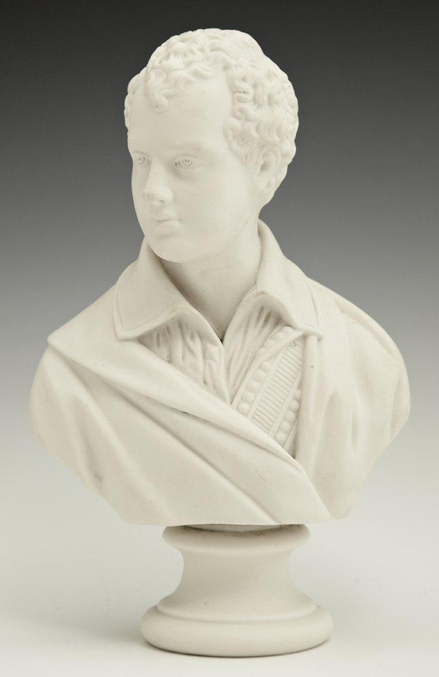 """Robert Burns,"" 19th c., parian bust, on a socle"