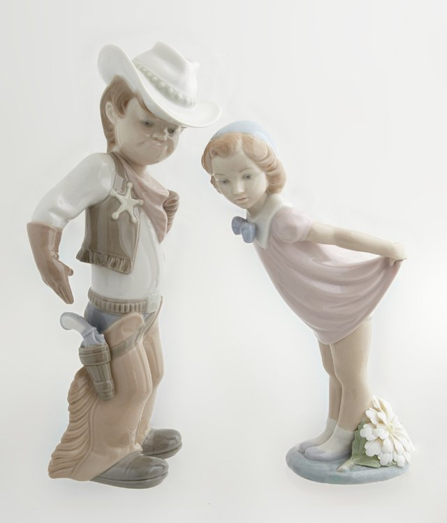 """Two Lladro Figures, 20th c., consisting of """"Sheriff,"""""""