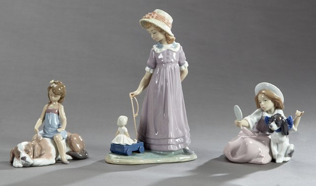 """Three Lladro Figures, consisting of #5468, """"Who's the"""