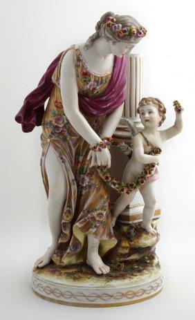 Large Capodimonte Porcelain Figure, 20th C., Of Venus