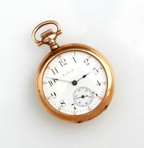 Elgin Rolled Gold Open Face Pocket Watch, 1911, Ser #