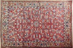 Semi-antique Persian Heriz Carpet, 7' 3 X 8'.
