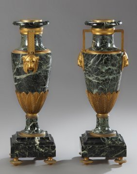 Pair Of French Empire Style Bronze Mounted Baluster