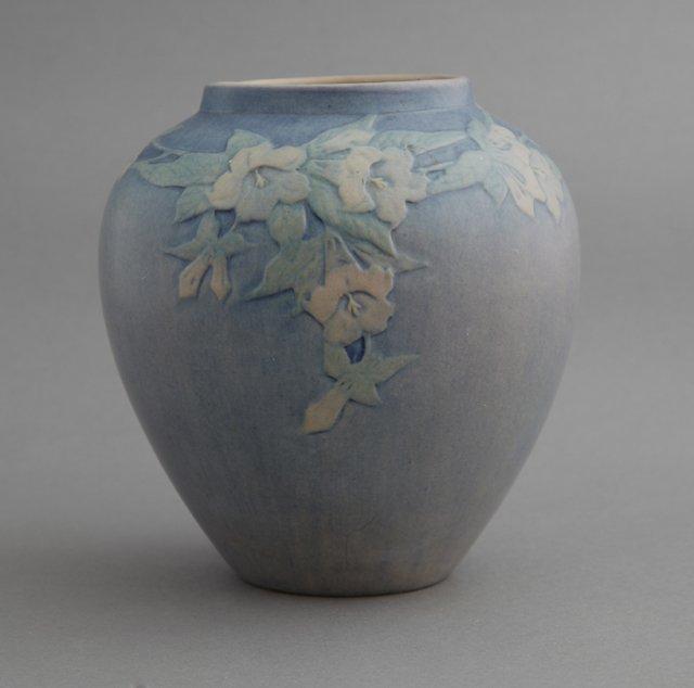 Newcomb College Art Pottery Blue Matte Glaze Baluster