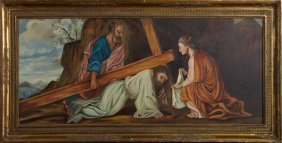 """Continental School, """"jesus Falls With The Cross,"""" Late"""
