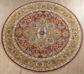 Circular Heriz Carpet, Dia.- 9'.