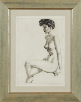 """Morris Henry Hobbs (1892-1967), """"becky,"""" 1946, Ed/50,"""