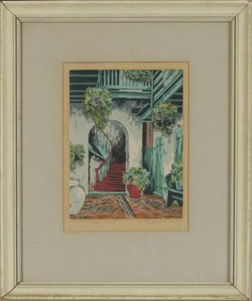 "Eugene E. Loving (1908-1971), ""the Marchand Court, Old"