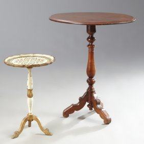 Two Continental Carved Pedestal Tables, 19th C. And
