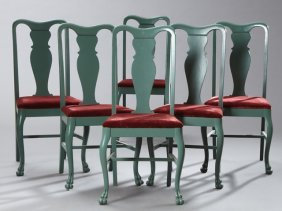 Set Of Six American Queen Annestyle Dining Chairs,