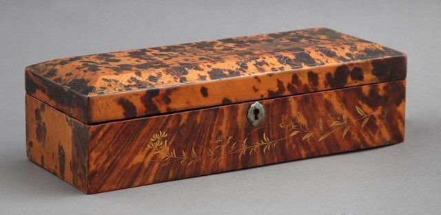 Oriental Tortoise Shell Glove Box, c. 1880, with