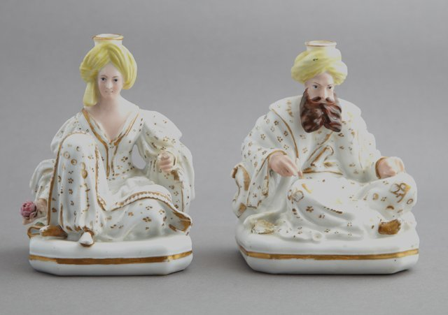 Pair of Jacob Petit Porcelain Sultan Perfumers, 19th