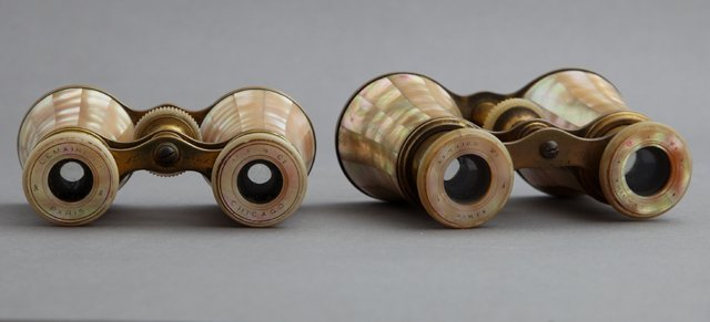 Two Pair of Mother-of-Pearl Opera Glasses, late 19th